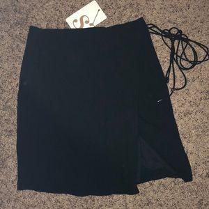 SABO SKIRT black wrap skirt